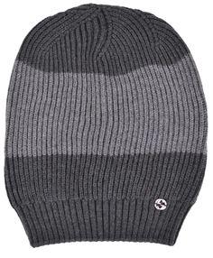 New Gucci Men's 310777 Grey Wool Colorblock Interlocking GG Slouchy Beanie Hat #Gucci #Ski