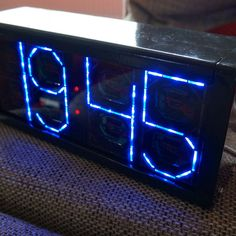 Big Digit Backwards Counting Bluetooth Arduino Clock #LED #timer