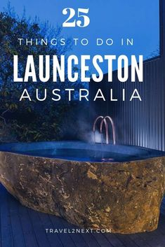 25 Incredible Things to do in Launceston (Tasmania). Looking for luxury? Soak in an outdoor bath at Hatherley House The Magnolia Garden Pavilion. This is one of the best places in Australia to treat yourself. Queensland Australia, Western Australia, Australia Travel, Travel Guides, Travel Tips, Travel Packing, Travel Advise, Stuff To Do, Things To Do