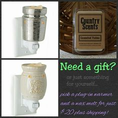 Plug-In Warmers are $15 and a package of wax melts is $5. Check out my store for all our selection! #candlewarmers#waxmelts Soy Wax Candles, Scented Candles, Country Scents Candles, Soy Products, Candle Warmer, Natural Essential Oils, Oil Diffuser, Wax Melts, Fragrance