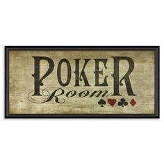 poker room art | House of Cards - Poker Room, Art Panel, 95 x 44cm