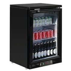 Botellero expositor negro una puerta pivotante 104 botellas Polar