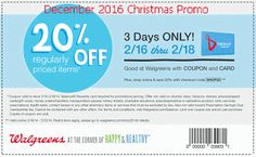 Walgreens coupons december 2016