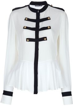 ALEXANDER MCQUEEN (AS WORN BY HRH CATHERINE WALES ) Military Style Blouse