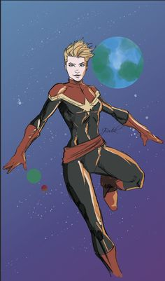 Captain Marvel by Jake Bartok #CarolDanvers