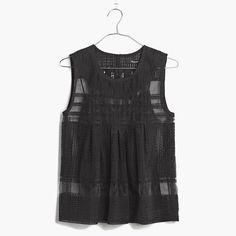 An easy A-line silhouette. Delicate, vintage-inspired embroidery. Great for parties, dates, anything special, really. <ul><li>Please note: layering cami included.</li><li>Slightly cropped fit.</li><li>Nylon/poly.</li><li>Dry clean.</li><li>Import.</li></ul>