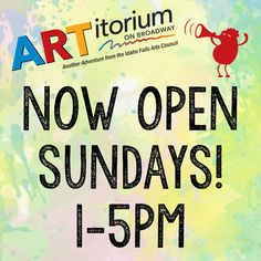 ARTitorium is now open Sundays! Now families can play every day of the week Interactive Art, Autumn Art, Families, Broadway, Sunday, Adventure, Play, Cover, Books