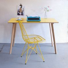 A handmade desk with vintage-mod appeal.