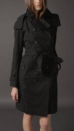 Long Gabardine Hooded Trench Coat with Warmer | Burberry