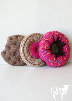 DIY Crochet PATTERN Sweet Treats Cushion Collection by Midknits