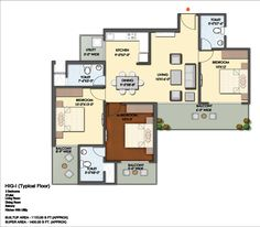 Mahagun Mantra Floor Plan 1400