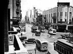 Callao y Corrientes. Década del 40. Buenos Aires