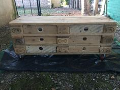 #Drawers, #PalletTVStand, #ReclaimedPallet