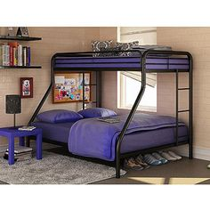 comes in blue too-Dorel Twin-Over-Full Metal Bunk Bed, Multiple Colors