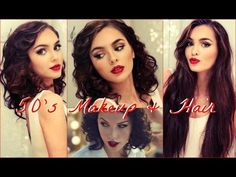 Wildest Dreams Tutorial | 50's Makeup & Faux Bob for Long Hair - YouTube