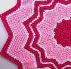 Bull's Round Ripple Afghan « Sheri Crochets