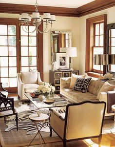 A animal print rug over a sisal is a great look!