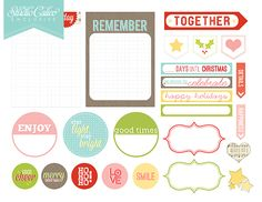25days diecut files + printables | Scrapbooking Kits, Paper & Supplies, Ideas & More at StudioCalico.com!