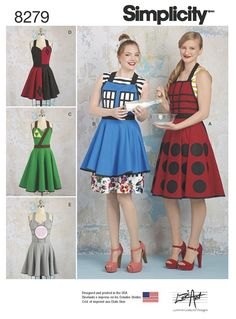 ecbfc7e4a52 Simplicity Simplicity Pattern 8279 Misses  Aprons from Lori Ann Costume  Designs