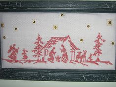 Mi pesebre en punto de cruz. Cross Stitch Samplers, Cross Stitch Kits, Cross Stitch Embroidery, Cross Stitch Patterns, Christmas Nativity, Christmas Cross, Swedish Weaving, Christmas Embroidery, Le Point