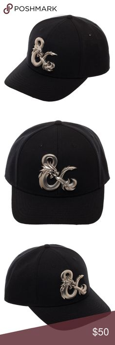 Dungeons & Dragons Metal Logo Curved Snapback Hat This is for 1 Dungeons & Dragons Snapback Hat.  This hat features the Dragon Ampersand Logo on the front made out of metal.  It looks amazing!  This is curved bill hat, Adult, Size Adjustable.  Made by Bioworld, Officially Licensed.  Style: Snapback Hat - Curved Bill Size:  Adult - Adjustable - One Size Fits Most Brand: Bioworld  Intended for Ages 14 and Up.  CONDITION - New  Great for any D&D fan!  Makes a great gift!   Check my Posh for…