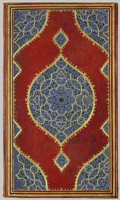 Khamsa (Quintet) of Nizami, Safavid period (1501–1722), 1509–1510 Iran, Shiraz Leather; tooled and gilded; ink on paper
