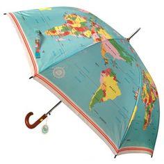 Vintage World Map Umbrella