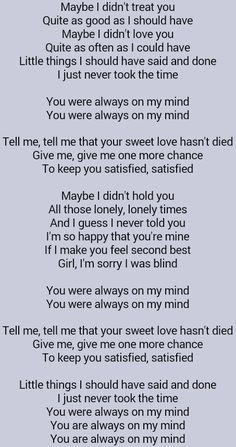 Elvis Presley, Always On My Mind. Loved the Pet Shop Boys 1988 version even more.