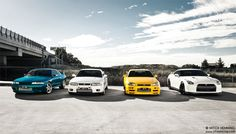 Nissan GTR - 4 Generations. R32, R33, R34, R35. | Photo by Mitch Hemming Photography on Flickr.