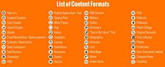 44 types of content formats you can use to build your online presence and personal branding. Marketing Tactics, Marketing Data, Content Marketing, Digital Marketing, Online Marketing Consultant, Charts And Graphs, White Paper, Personal Branding