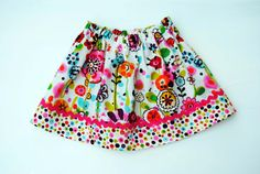 Cute and colorful cotton skirt.