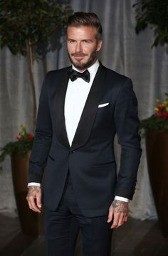 David Beckham attends the after party for the EE British Academy Film Awards at The Grosvenor House Hotel on February 8, 2015 in London, England.