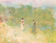 Thomas Wilmer Dewing – Summer (c. 1890) oil on canvas   Washington, D.C., National Gallery of Art