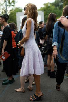Street Fashion At Milan