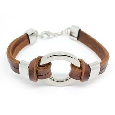 Top Value Jewelry - Unisex Brown Leather 2 Band Bracelet with Stylish Silver Ring Top Value Jewelry. $21.99. Brown Leather Bracelet 2 Band Bracelet with Silver Circle Bead. Great Gift for Men and Women. Contemporary and versatile piece for Anyone. Unique Leather Banded Design that is the Perfect Style for Male or Female
