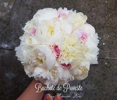 White peonies bridal bouquet White Peonies, Bouquet, Bridal, Plants, Wedding, Horsehair, Valentines Day Weddings, Bride, Weddings
