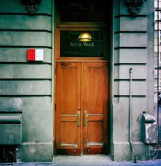 Scott Hull Associates : Milton Glaser's Office Door: ART IS WORK