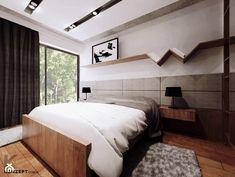Piaskowa - Duża sypialnia małżeńska, styl minimalistyczny - zdjęcie od KONZEPT Architekci - homebook