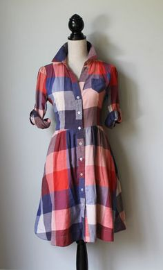 Anthropologie plaid shirt dress, not sure but would love to try on!