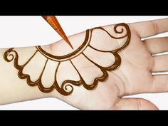 Easy mehndi designs for front hands - Simple Henna designs - Easy beautiful mehn. - Learn how to draw mehandi - Henna Designs Hand Mehndi Designs Front Hand, Full Mehndi Designs, Simple Arabic Mehndi Designs, Mehndi Designs For Beginners, Mehndi Design Pictures, Bridal Henna Designs, Mehndi Simple, Mehndi Designs For Fingers, Beautiful Henna Designs