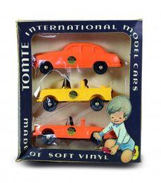 Tomtebiler i originaleske. Eske med 3 biler. Kun 6 biler og fargevarianter. serien 1:43