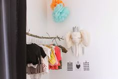 Maayle Chic http://maaylechic.blogspot.com décoration enfant bebe trophée éléphant homemade