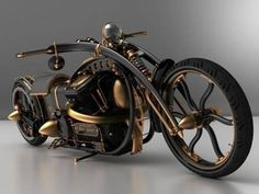 "Concept: The Steampunk ""Black Widow"" Chopper"