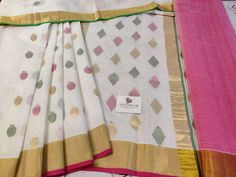 Off White Cotton Saree With Apple Motif All Over.cost 4500 inr Cotton Saree, Cotton Silk, White Cotton, Whatsapp Messenger, Off White, Apple, Blanket, Home Decor, Apple Fruit