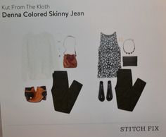 March 2015 Stitch Fix. Kut From The Kloth Denna Colored Skinny Jean