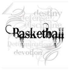 "Basketball ""D"" Wall Decal"