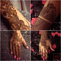 Four henna designs by AK.