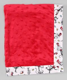 Another great find on #zulily! Red Cat in the Hat Framed Blanket #zulilyfinds