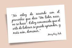 Arte del Lider Mary Kay Ash Quotes, Decir No, Motivation, Words, Carrera, Marketing, Quotes Motivation, Finding Nemo, Truths
