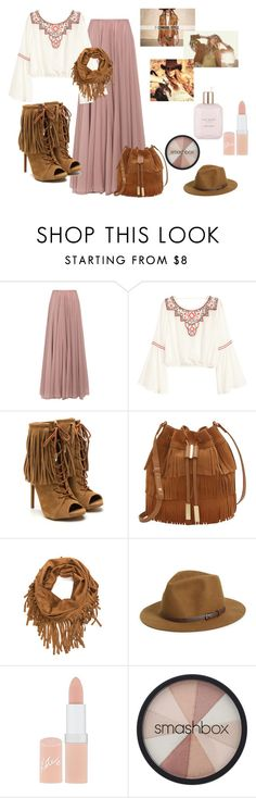 """""""A Formal Cowgirl"""" by shiann-styles on Polyvore featuring Lara Khoury, H&M, Vince Camuto, Sole Society, Vanessa Mooney, Rimmel, Smashbox and Ted Baker"""